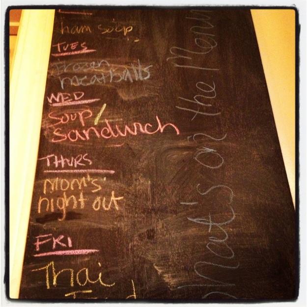 My menu.